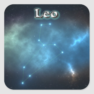 Sticker Carré Constellation de Lion