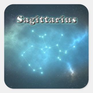 Sticker Carré Constellation de Sagittaire