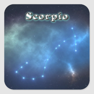 Sticker Carré Constellation de Scorpion