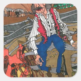 Sticker Carré Contemplation