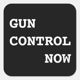 Sticker Carré Contrôle des armes maintenant, texte blanc