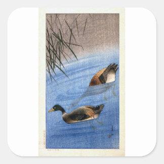 Sticker Carré Copie vintage de canard