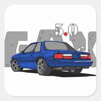 Sticker Carré corps de Fox 5.0L (dos d'entaille). T-shirt