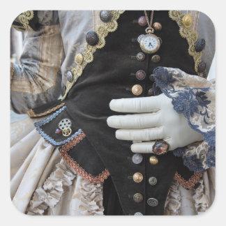 Sticker Carré Corsage de Steampunk, carnaval, Venise