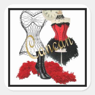 Sticker Carré Costume 1 de cancan
