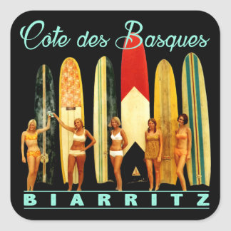 Sticker Carré Côte des Basques Biarritz