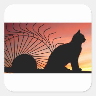 Sticker Carré Coucher du soleil Canada de pays