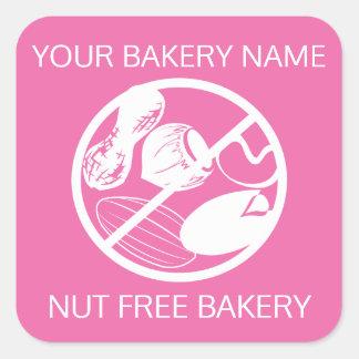 Sticker Carré Couleur libre de coutume de symbole de boulangerie