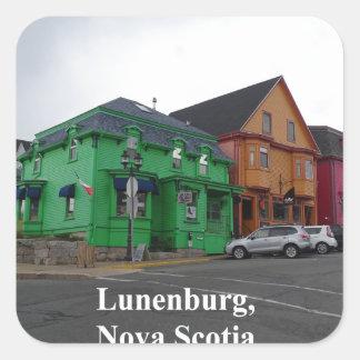 Sticker Carré Couleurs de Lunenburg