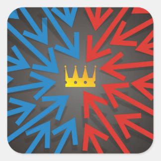 Sticker Carré Couronne d'or