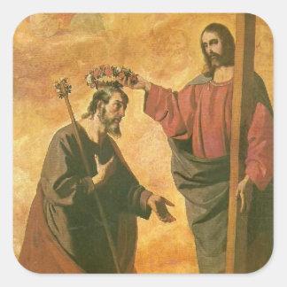 Sticker Carré Couronnement de St Joseph par Jésus