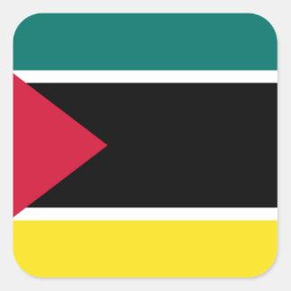 Sticker Carré Coût bas ! Drapeau de la Mozambique