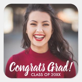 Sticker Carré Coutume de la classe 2018 de diplômé de Congrats