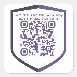 Sticker Carré Coutume do-it-yourself de QR-Code de PIVX