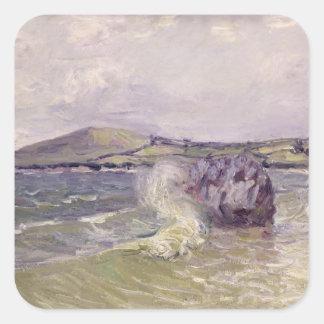 Sticker Carré Cove de Madame, baie de Langland, Le Mati d'Alfred