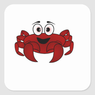 Sticker Carré Crabe