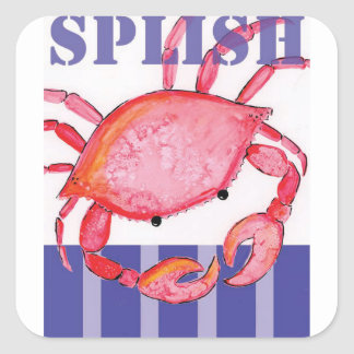 Sticker Carré Crabe de Splish