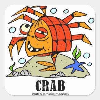 Sticker Carré Crabe par le © de Lorenzo Lorenzo 2018 Traverso