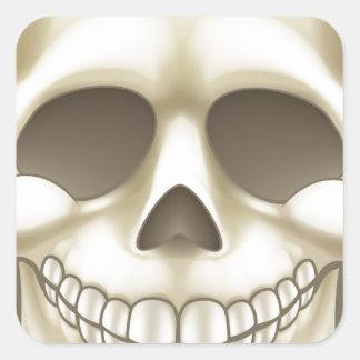 Sticker Carré Crâne de bande dessinée