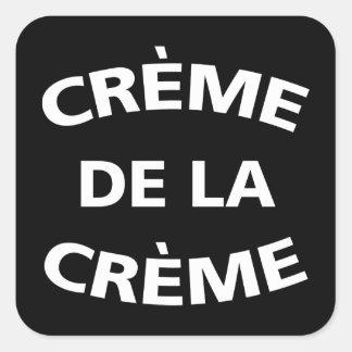 Sticker Carré Creme De La Creme