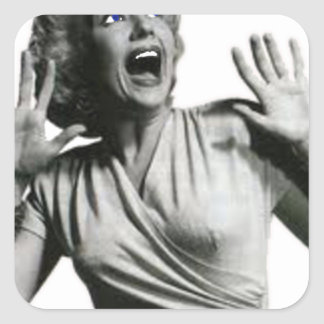 Sticker Carré Criard de film d'horreur