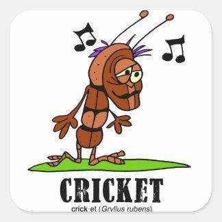 Sticker Carré Cricket par le © de Lorenzo Lorenzo 2018 Traverso