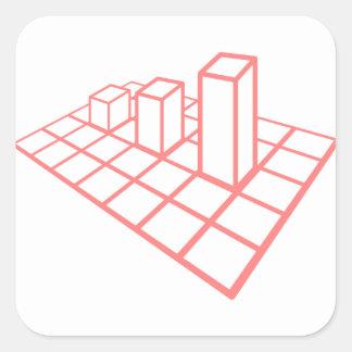 Sticker Carré Croissance de diagramme