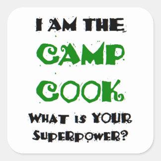 Sticker Carré cuisinier de camp