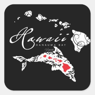 Sticker Carré Dauphins d'Hawaï