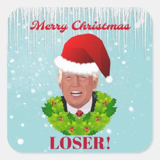 """Sticker Carré De """"perdant Joyeux Noël """" drôle d'atout"""