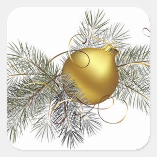 Sticker Carré Décoration de fête d'or