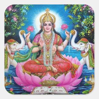 Sticker Carré Déesse de Lakshmi d'autocollant de richesse