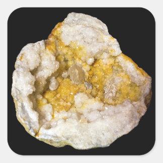 Sticker Carré Demi de photo jaune et blanche de Geode