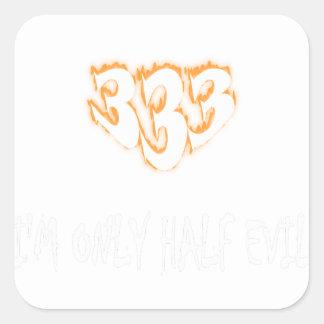 Sticker Carré demi d'evil3