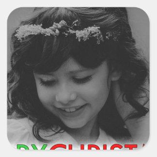 Sticker Carré Demoiselle de honneur de jeunes de Joyeux Noël