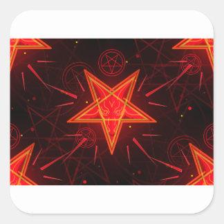 Sticker Carré démon au néon
