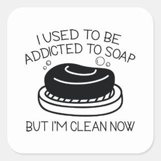 Sticker Carré Dépendant au savon