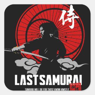 Sticker Carré Derniers samouraïs