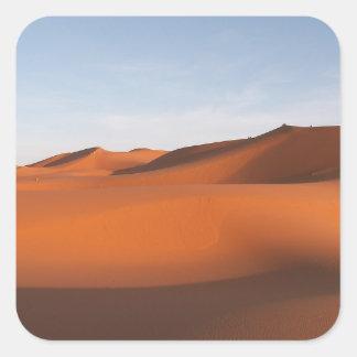 Sticker Carré Désert de sable du Maroc, Afrique du nord-ouest