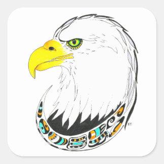 Sticker Carré Dessin d'encre d'Eagle