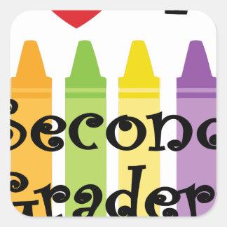 Sticker Carré deuxième catégorie teacher2