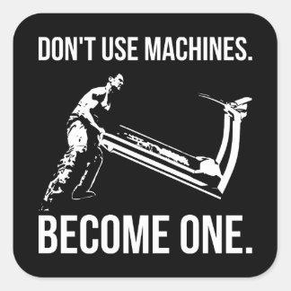 Sticker Carré Deviennent une machine - bande dessinée, homme