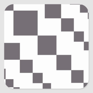 Sticker Carré Diamants descendants gris