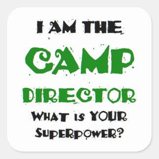 Sticker Carré directeur de camp