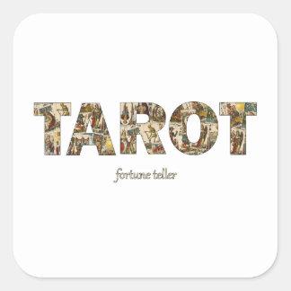 Sticker Carré Diseur de bonne aventure de tarot