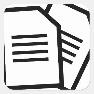 Sticker Carré Documents sur papier