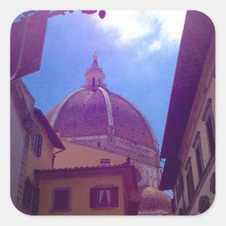 Sticker Carré Dôme de Brunelleschi à Florence, Italie