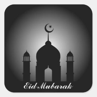 Sticker Carré Dôme de mosquée et silhouette de minaret