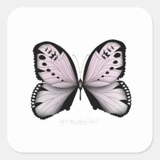 Sticker Carré Domestique rose de marais de papillon rose