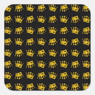 Sticker Carré Double motif de couronne